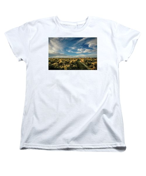 Women's T-Shirt (Standard Cut) featuring the photograph Sunlight For Photographers by Marilyn Hunt