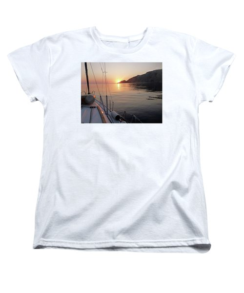 Sunrise On The Aegean Women's T-Shirt (Standard Cut) by Christin Brodie