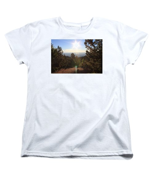 Sunrise Over Colorado Springs Women's T-Shirt (Standard Cut) by Christin Brodie
