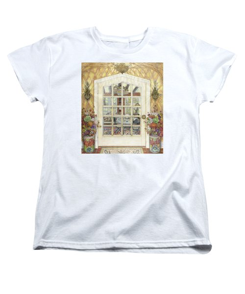 Sunroom Entrance Women's T-Shirt (Standard Cut) by Bonnie Siracusa