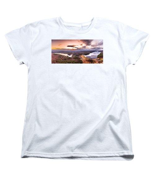 Sunset At Saville Dam - Barkhamsted Reservoir Connecticut Women's T-Shirt (Standard Cut) by Petr Hejl