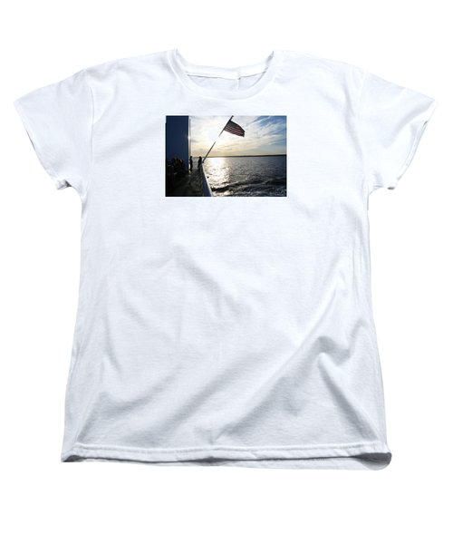 Women's T-Shirt (Standard Cut) featuring the photograph Sunset Cruise by Margie Avellino