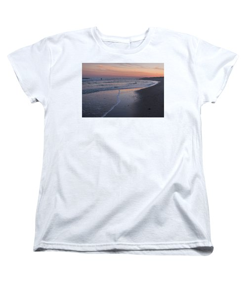 Women's T-Shirt (Standard Cut) featuring the photograph Sunset Fishing Seaside Park Nj by Terry DeLuco