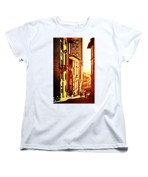 Women's T-Shirt (Standard Cut) featuring the digital art Sunset In Arezzo by Andrea Barbieri