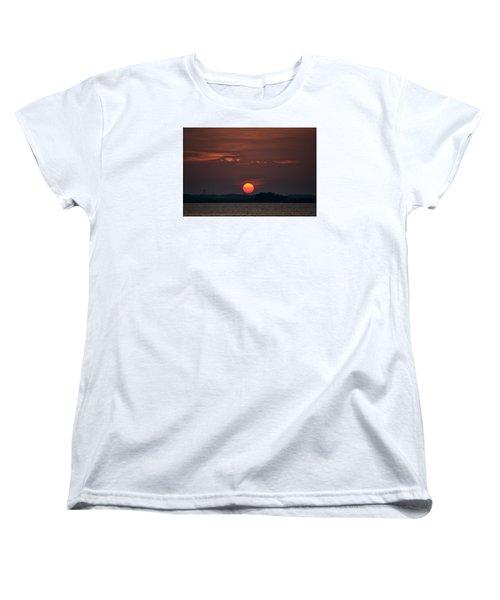 Sunset In Biloxi 2 Women's T-Shirt (Standard Cut) by Cathy Jourdan