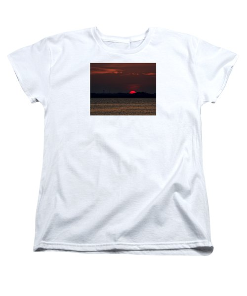 Sunset In Biloxi 3 Women's T-Shirt (Standard Cut) by Cathy Jourdan