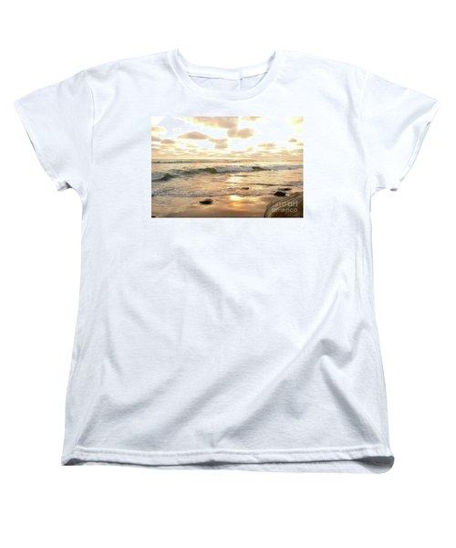 Sunset In Golden Tones Torrey Pines Natural Preserves #2 Women's T-Shirt (Standard Cut) by Heather Kirk
