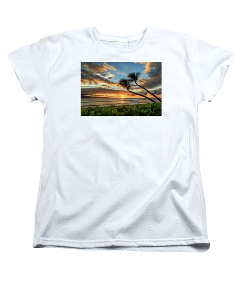 Women's T-Shirt (Standard Cut) featuring the photograph Sunset In Kaanapali by James Eddy