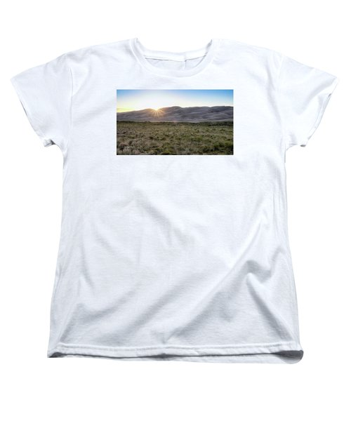 Sunset On The Dunes Women's T-Shirt (Standard Cut) by Monte Stevens