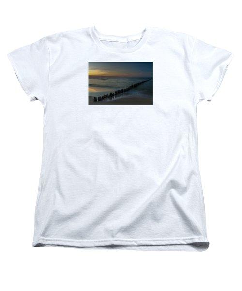 Sunset Zen Mood Seascape Women's T-Shirt (Standard Cut) by Julis Simo