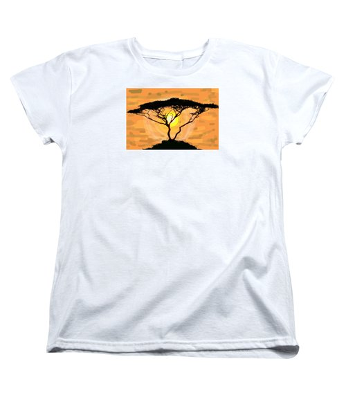 Women's T-Shirt (Standard Cut) featuring the painting Suntree by Patricia Arroyo