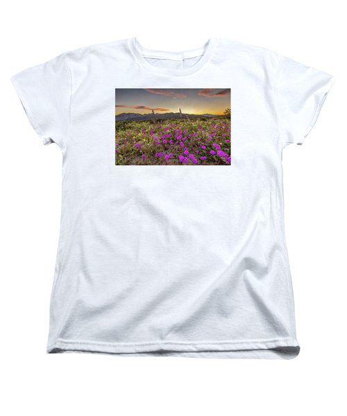 Women's T-Shirt (Standard Cut) featuring the photograph Super Bloom Sunset by Peter Tellone