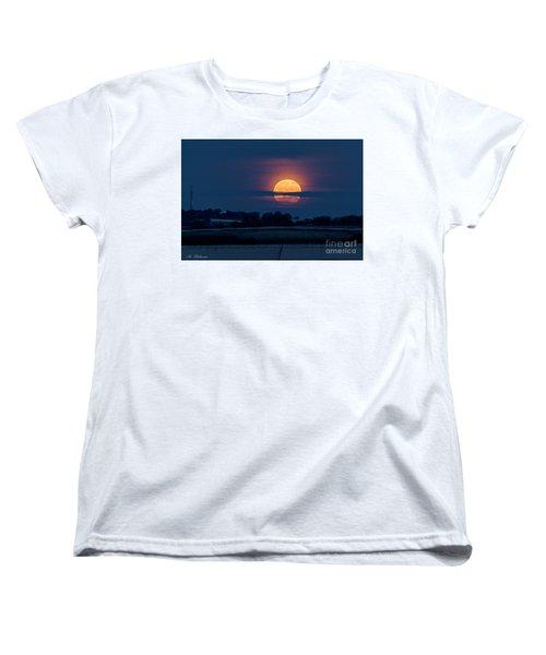 Super Moon Women's T-Shirt (Standard Cut) by Arik Baltinester