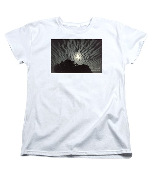 Super Moon Women's T-Shirt (Standard Cut) by Irma BACKELANT GALLERIES