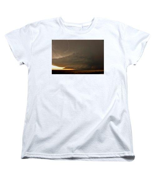 Supercell In Kansas Women's T-Shirt (Standard Cut) by Ed Sweeney