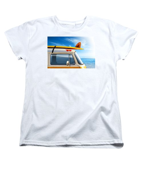 Surf Van Women's T-Shirt (Standard Cut) by Carlos Caetano