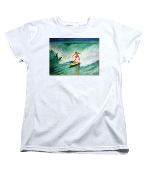 Surfer Dude Women's T-Shirt (Standard Cut) by Patricia Piffath