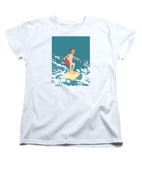 Surferbird Women's T-Shirt (Standard Cut) by Megan Dirsa-DuBois