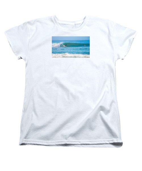 Surfing Women's T-Shirt (Standard Cut) by Dorothy Cunningham