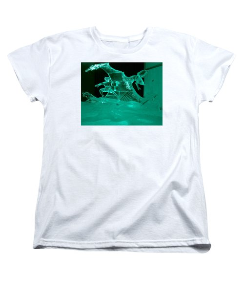 Surfing With Dolphins Women's T-Shirt (Standard Cut) by Betty-Anne McDonald