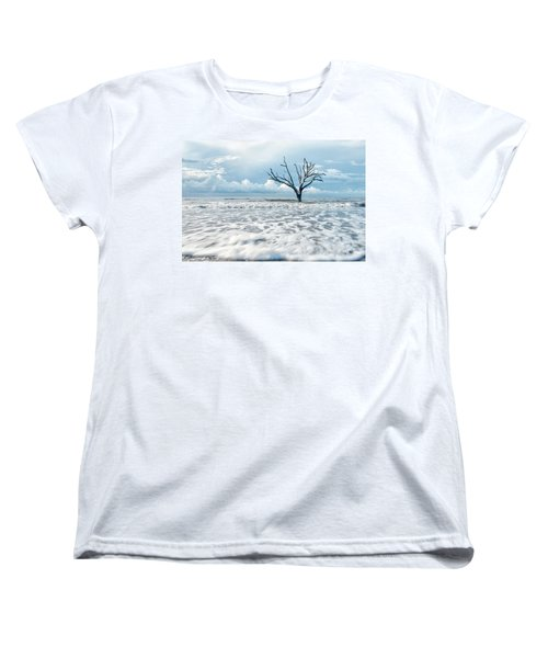 Women's T-Shirt (Standard Cut) featuring the photograph Surfside Tree by Phyllis Peterson