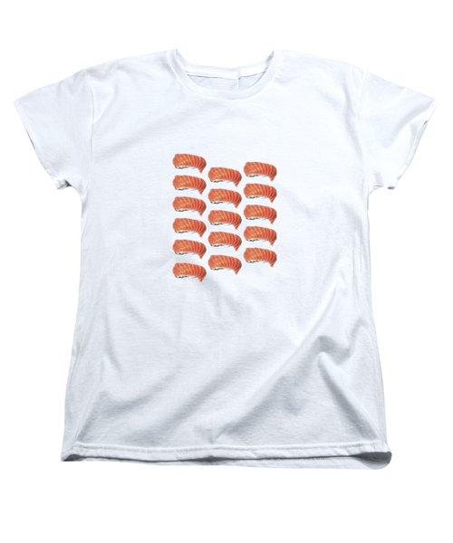 Sushi T-shirt Women's T-Shirt (Standard Cut) by Edward Fielding
