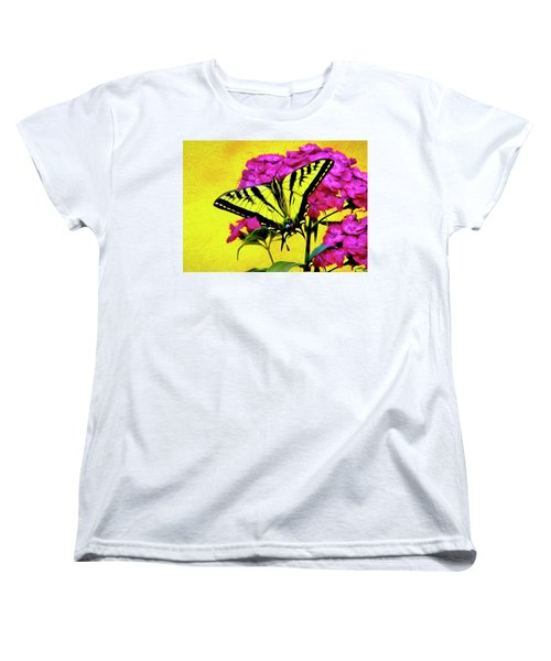 Swallow Tail Feeding Women's T-Shirt (Standard Cut) by James Steele