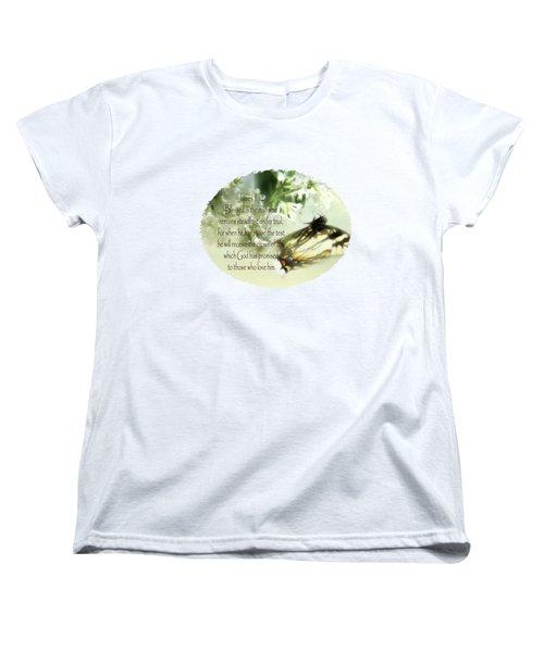 Swallowtail And Lilac Women's T-Shirt (Standard Cut) by Anita Faye
