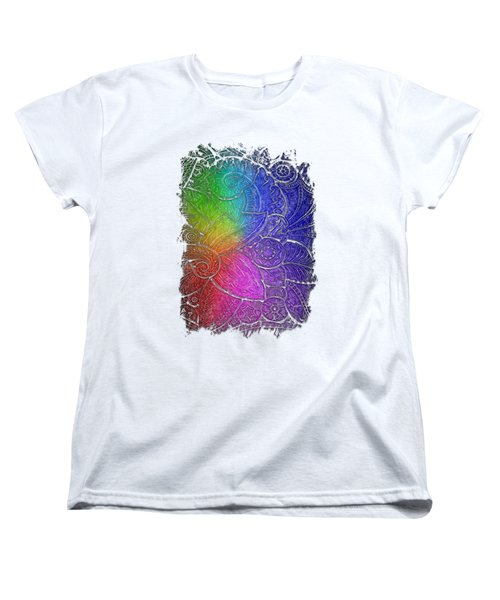 Swan Dance Cool Rainbow 3 Dimensional Women's T-Shirt (Standard Cut) by Di Designs