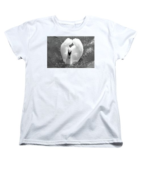 Swan In Motion Women's T-Shirt (Standard Cut) by Inspirational Photo Creations Audrey Woods