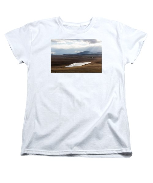 Sweeping Plain And A Small Lake Between Mountain Foothills Near Fairplay In Park County Women's T-Shirt (Standard Cut) by Carol M Highsmith