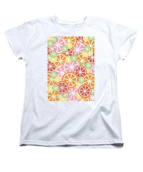 Sweet And Sour Citrus Print Women's T-Shirt (Standard Cut) by Lauren Amelia Hughes