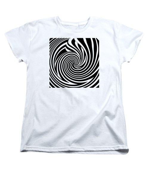 Swirl Op Art Women's T-Shirt (Standard Cut) by Methune Hively