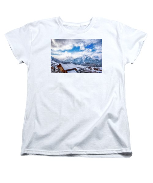 Swiss Alps Women's T-Shirt (Standard Cut) by Pravine Chester