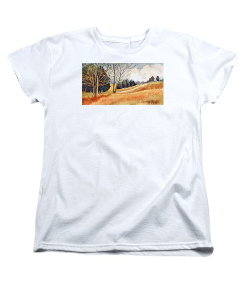 Women's T-Shirt (Standard Cut) featuring the painting Switchboard Rd by Katherine Miller