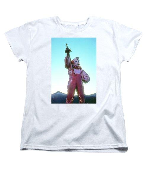 Sword Swallower Women's T-Shirt (Standard Cut) by Laurie Stewart