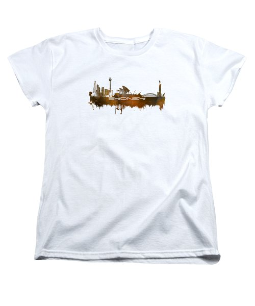 Sydney Skyline City Brown Women's T-Shirt (Standard Cut) by Justyna JBJart