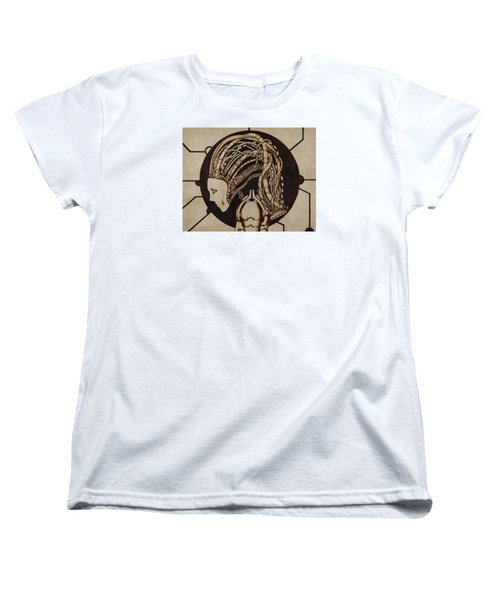 Women's T-Shirt (Standard Cut) featuring the pyrography Synth by Jeff DOttavio