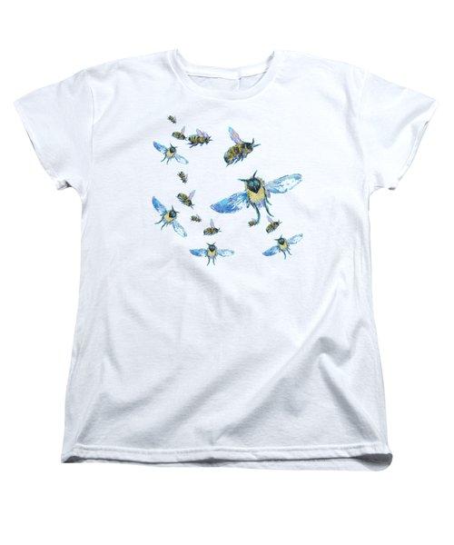 T-shirt With Bees Design Women's T-Shirt (Standard Cut) by Jan Matson