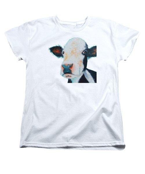 T-shirt With Cow Design Women's T-Shirt (Standard Cut) by Jan Matson