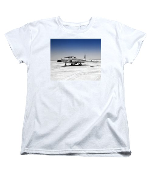 Women's T-Shirt (Standard Cut) featuring the photograph T33 A Jet by Greg Moores