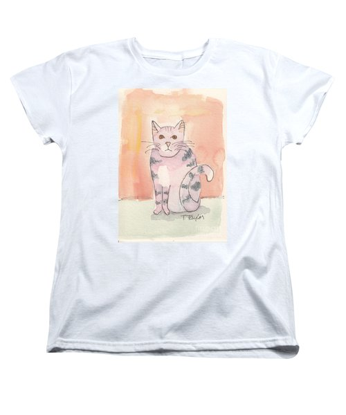 Women's T-Shirt (Standard Cut) featuring the painting Tabby by Terry Taylor