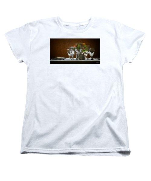 Women's T-Shirt (Standard Cut) featuring the photograph Table Setting by Joe Bonita