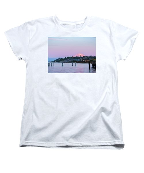 Tacoma Sunset Women's T-Shirt (Standard Cut) by Ken Stanback