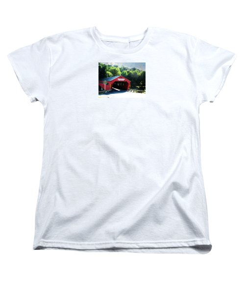 Taftsville Covered Bridge Women's T-Shirt (Standard Cut) by Robin Regan