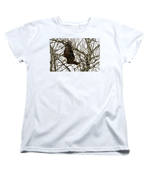 Women's T-Shirt (Standard Cut) featuring the photograph Taking Off by Michael Peychich