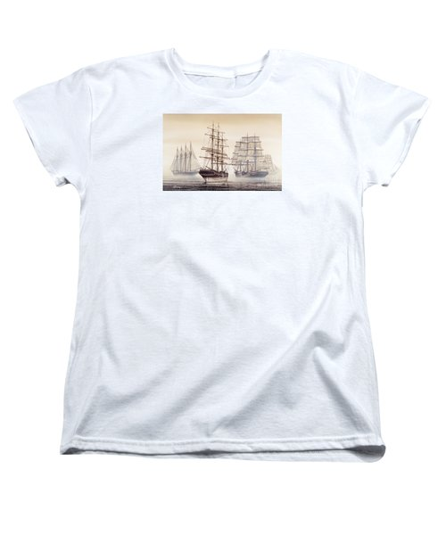 Tall Ships Women's T-Shirt (Standard Cut) by James Williamson