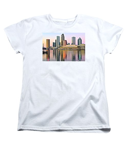 Tampa In Vivid Color Women's T-Shirt (Standard Cut) by Frozen in Time Fine Art Photography