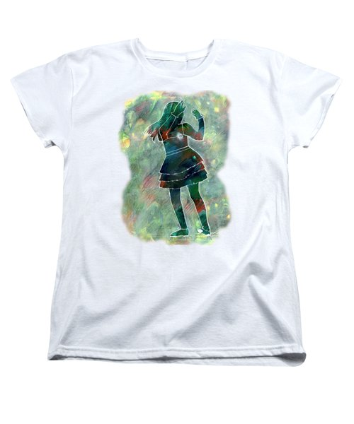 Tap Dancer 1 - Green Women's T-Shirt (Standard Cut) by Lori Kingston
