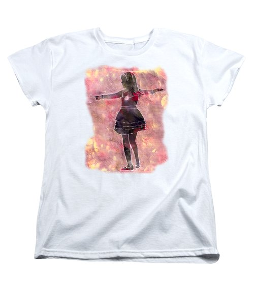Tap Dancer 2 - Pink Women's T-Shirt (Standard Cut) by Lori Kingston